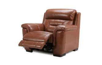 Power Plus Recliner Chair Brazil with Leather Look Fabric