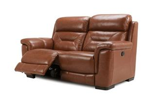 2 Seater Manual Recliner Brazil with Leather Look Fabric