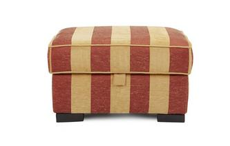 Stripe Storage Footstool Landseer Stripe