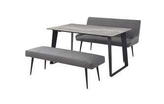 145cm Fixed Dining Table with 1 Highback Bench & 1 Bench