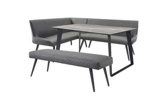 145cm Fixed Dining Table with 1 Bench & 1 Left Hand Facing Corner Bench