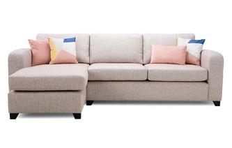 Casual Left Hand Facing Chaise End 3 Seater Sofa