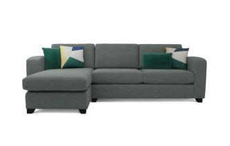 Layla Left Hand Facing Chaise End 3 Seater Deluxe Sofa Bed Layla Plain