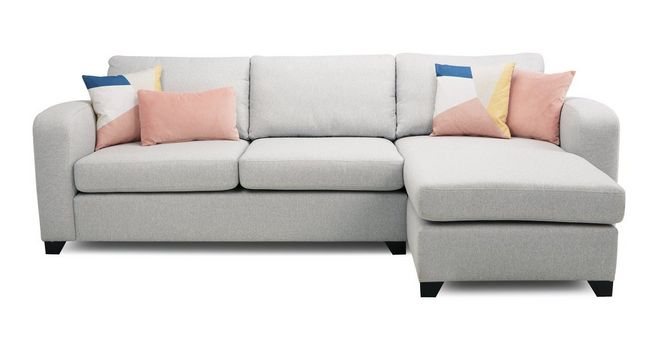 Layla Right Hand Facing Chaise End 3 Seater Deluxe Sofa Bed ...