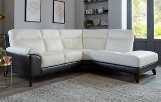 Leonetto Option A Left Hand Facing Arm 2 Piece Corner Sofa Essential