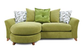 Pillow Back 4 Seater Lounger Sofa