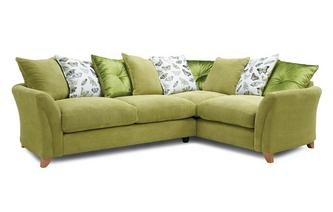 Pillow Back Left Hand Facing 3 Seater Corner Sofa Leonie