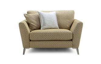 Pattern Cuddler Sofa
