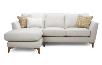 Plain Left Hand Facing Chaise End 2 Seater Sofa Libby