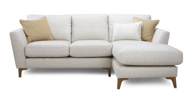 Libby: Plain Right Hand Facing Chaise End 2 Seater Sofa