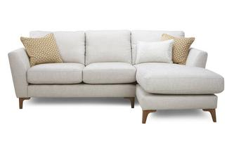 Plain Right Hand Facing Chaise End 2 Seater Sofa