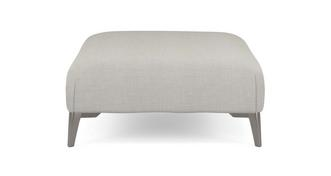 Libby Plain Banquette Footstool
