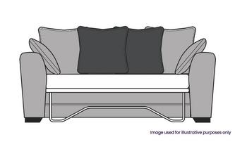 Pillow Back 3 Seater Deluxe Sofa Bed
