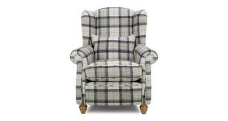 Loch Leven Plaid Wing Chair