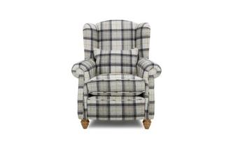 Plaid Wing Chair Gower Plaid