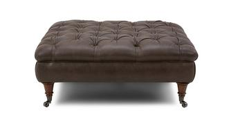 Loch Leven Leather Large Button Footstool