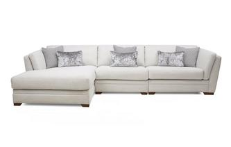 Left Hand Facing Large Chaise Sofa Long Beach
