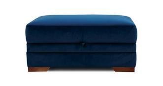Long Beach Velvet Large Storage Footstool