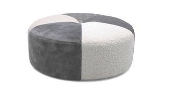 Loversall Pattern Round Footstool