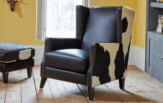 Lowry Leather and Hide Accent Chair Lowry Leather and Hide