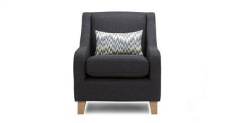 Ludo Accent Chair with Pattern Bolster
