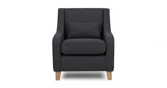 Ludo Accent Chair with Plain Bolster