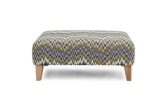 Pattern Banquette Footstool Ludo