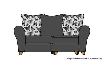 Pillow Back 2 Seater Lounger
