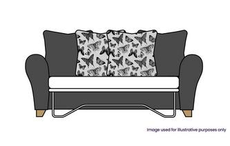 Pillow Back 3 Seater Standard Sofa Bed