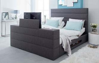 Lumeo King Adjustable TV Bed & Dreamatic Mattress Cora