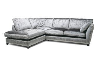 Formal Back Right Hand Facing Arm 3 Seat Corner Sofa