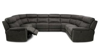 Luther Option P Power Plus 8 Piece U Shape Sofa