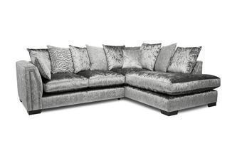 Pillow Back Left Hand Facing 2 Seater Corner Sofa