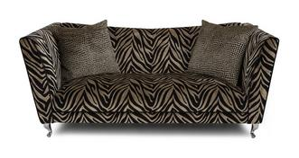 Madagascar Tiger Pattern 3 Seater Sofa