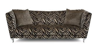 Madagascar Tiger Pattern 4 Seater Sofa