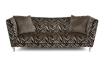 Tiger Pattern 4 Seater Sofa