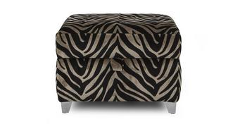 Madagascar Tiger Pattern Storage Footstool