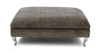 Madagascar Square Pattern Large Footstool