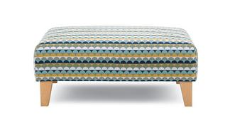 Mahiki Pattern Banquette Footstool