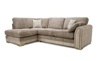 Formal Back Right Hand Facing 3 Seater Open End Corner Sofa
