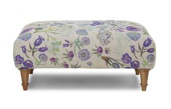 Floral Banquette Footstool