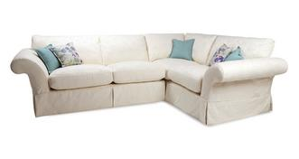 Malvern Pattern Left Hand Facing 3 Seater Corner Sofa