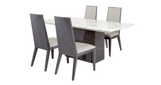 Mara Dining Table & Set of 4 Dining Chairs