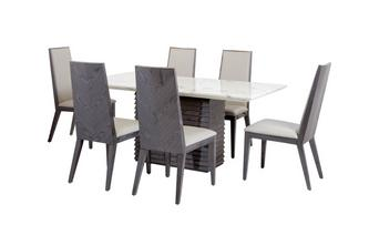 Dining Table & Set of 6 Dining Chairs