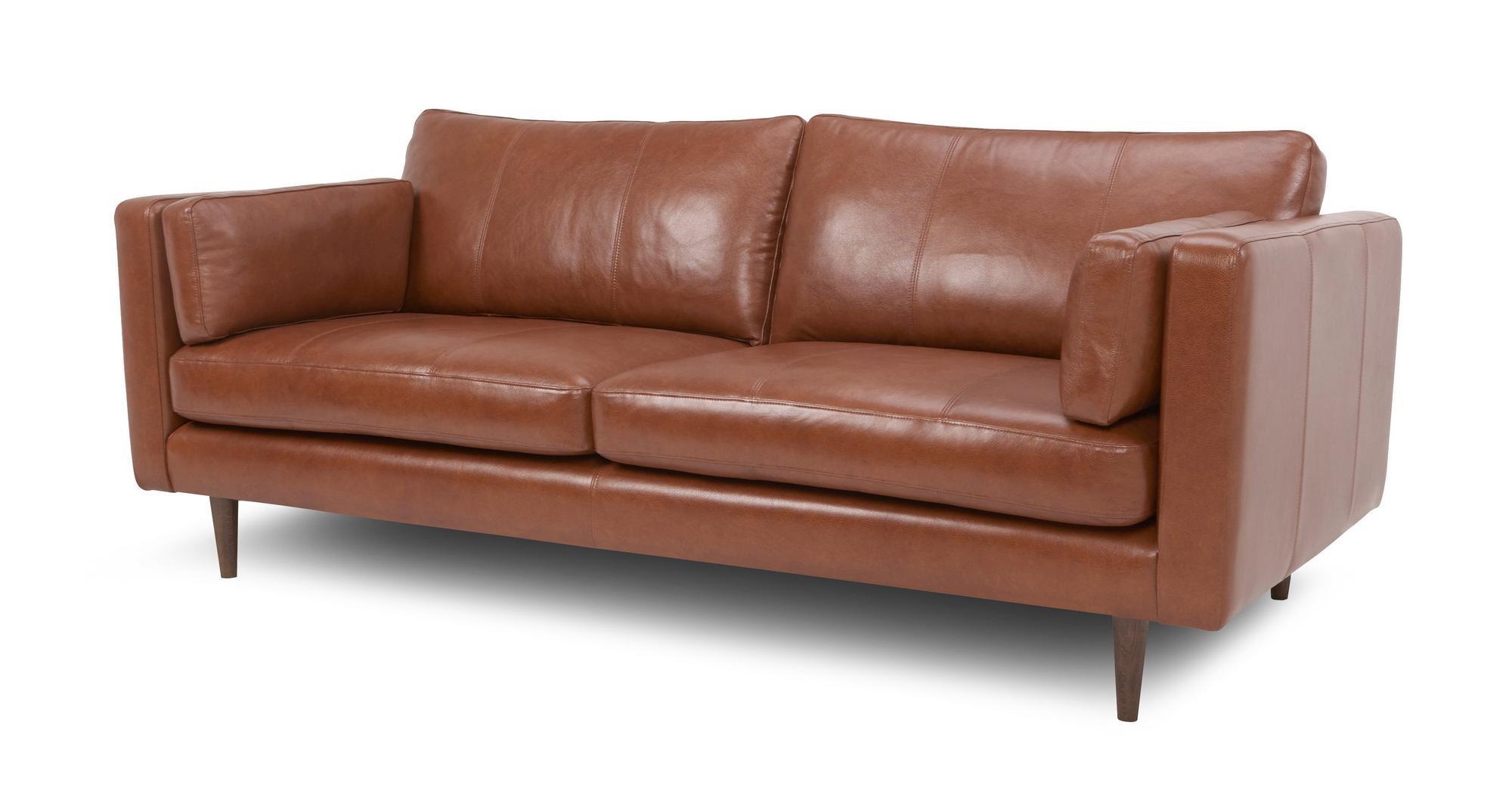 Dfs Marl Tan 100 Leather Large Sofa Small Sofa Cuddler