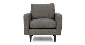 Marl Fabric Weave Fabric Armchair