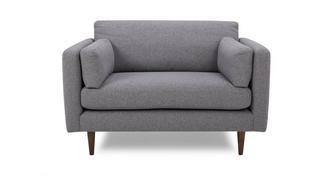 Marl Fabric Cuddler Sofa