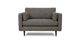 Marl Fabric Weave Fabric Cuddler Sofa