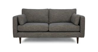 Marl Fabric Weave Fabric 3 Seater Sofa