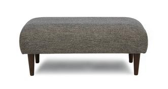 Marl Fabric Weave Fabric Large Bench Footstool